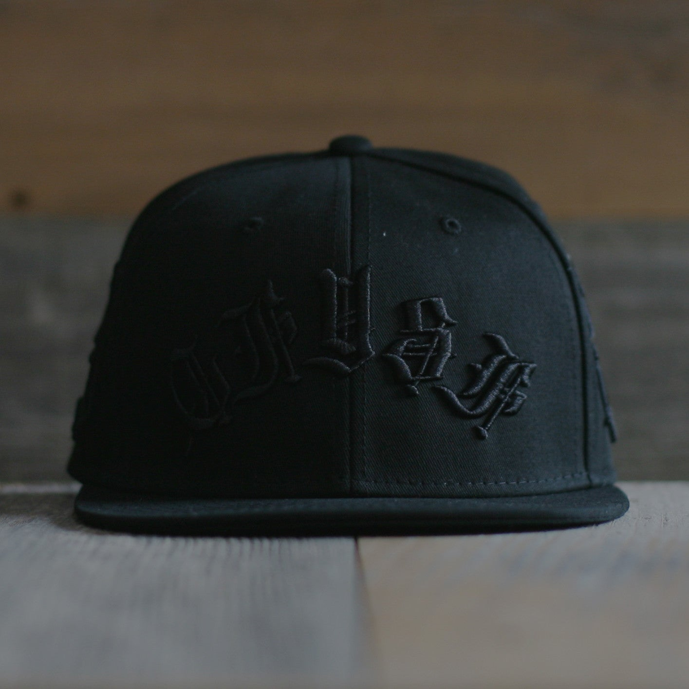 Blasted Snapback Hat Stealth