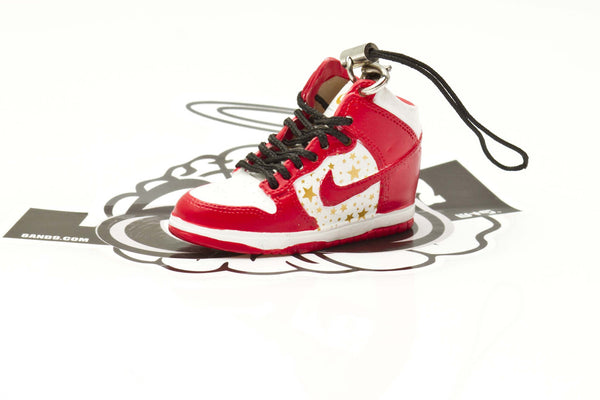 Nike Supreme Dunk High Red Sneaker Keychain