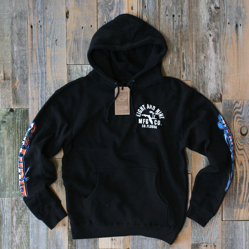 Rollin' Up Hooded Sweatshirt Black - 1