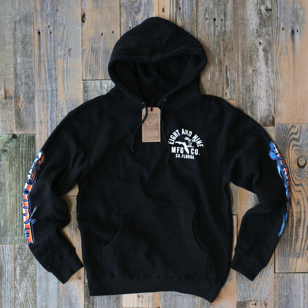 Rollin' Up Hooded Sweatshirt Black