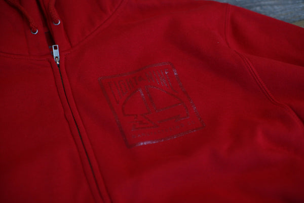 MFG Wax Stamp Zip Up Sweatshirt Red - 5