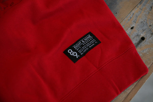 MFG Wax Stamp Zip Up Sweatshirt Red - 6