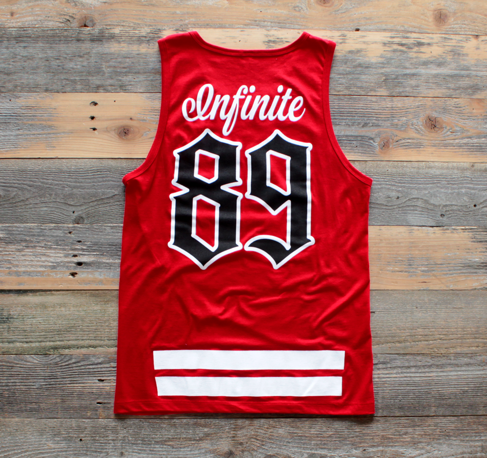 On Deck Jersey Tank Top Red - 2
