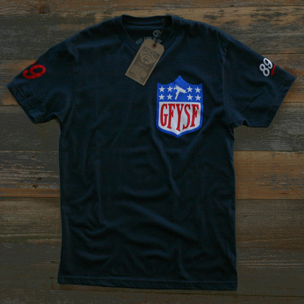 GFYSF League Tee Navy - 1