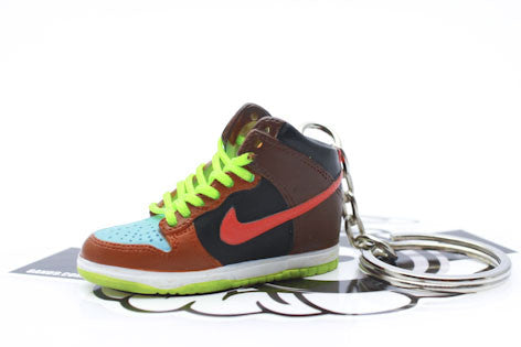 Nike Undefeated Dunk Hi Mini Sneaker Keychain