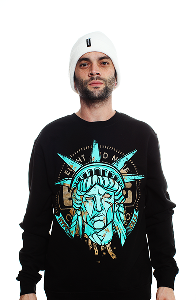 Statue Of Liberty Hyperposite Sweatshirt Black