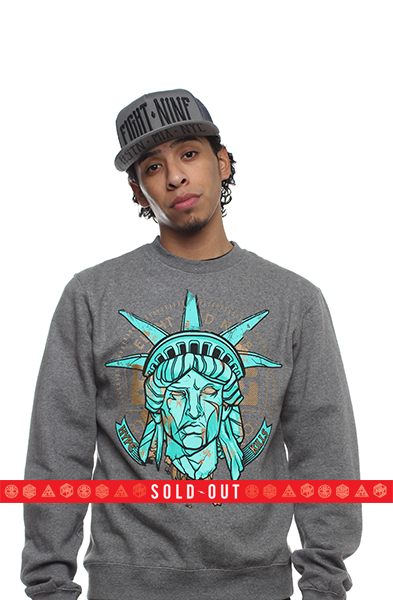 Statue Of Liberty Hyperposite Sweatshirt Gunmetal - 1