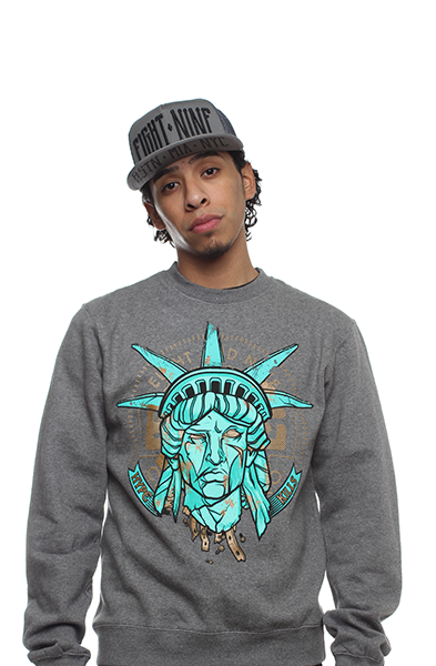 Statue Of Liberty Hyperposite Sweatshirt Gunmetal - 2