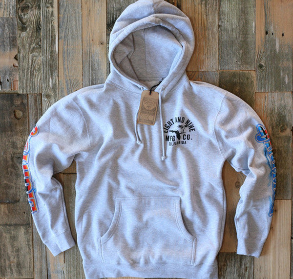 Rollin' Up Hooded Sweatshirt Grey