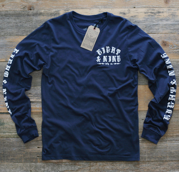 Trench Dwellers Premium Navy L/S Tee - 1