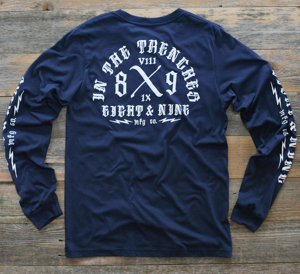 Trench Dwellers Premium Navy L/S Tee - 2