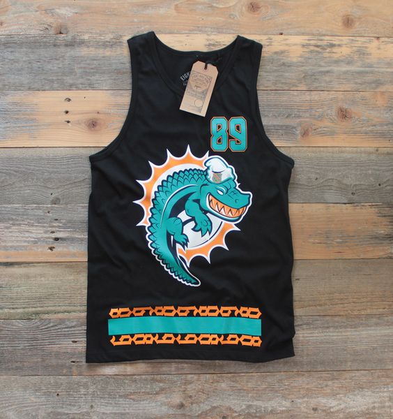 Miami FL Mash-Up Jersey Tank Black - 1