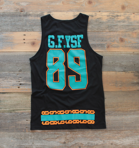 Miami FL Mash-Up Jersey Tank Black - 2