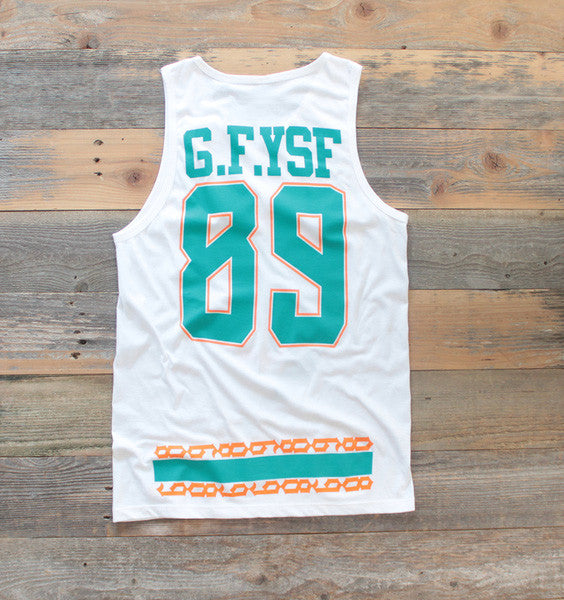 Miami FL Mash-Up Jersey Tank White - 2