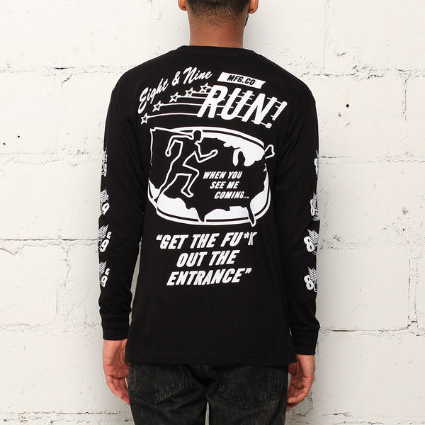 Run L/S T Shirt Black