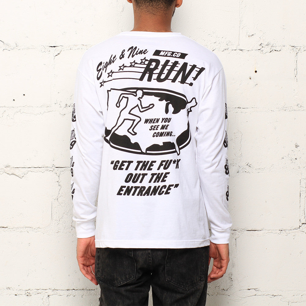 Run L/S T Shirt White