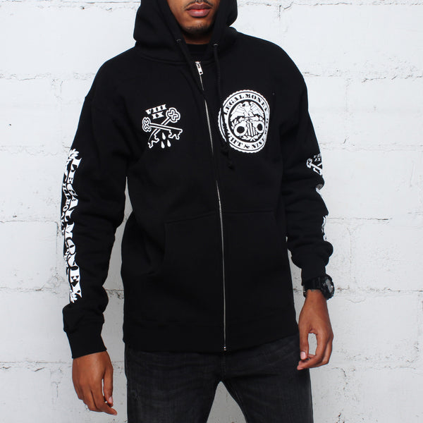 Legal Money Zip Up Hoody Black - 1