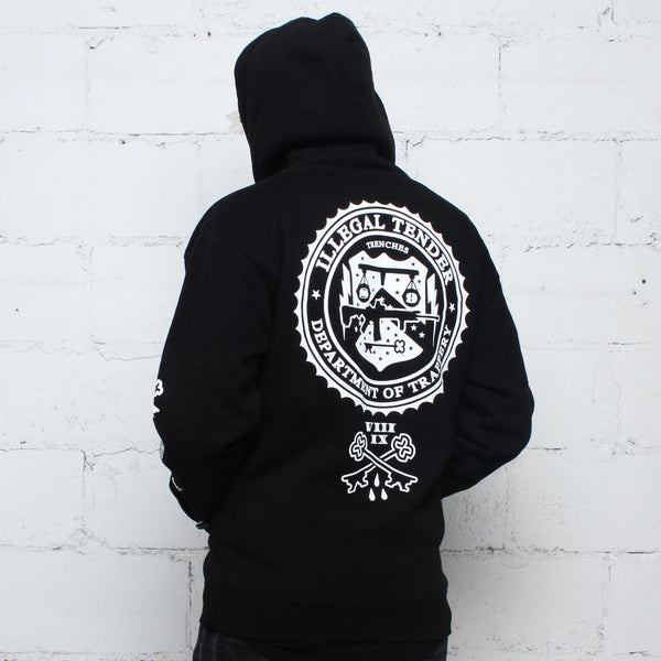 Legal Money Zip Up Hoody Black - 4