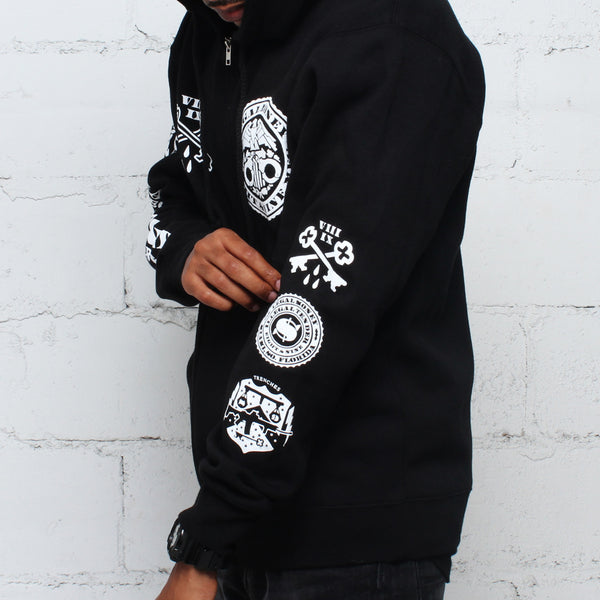 Legal Money Zip Up Hoody Black - 2