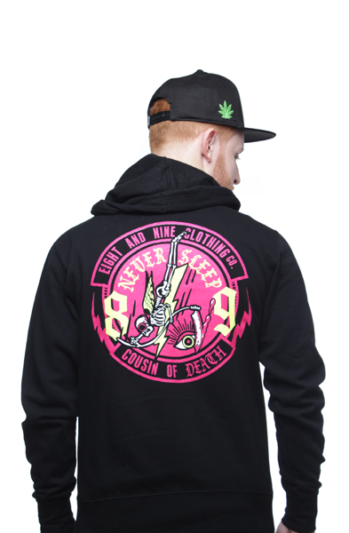 Never Sleep Zip Up Hooded Sweatshirt