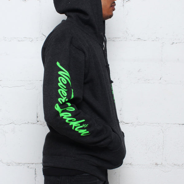 Tsunami Zip Up Hoodie Coal - 4