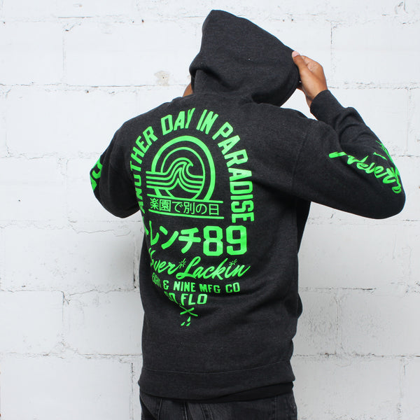 Tsunami Zip Up Hoodie Coal - 2