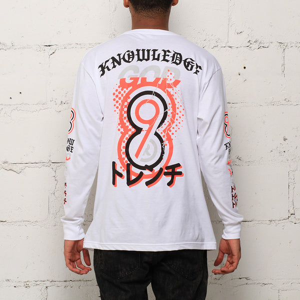 Knowledge L/S T Shirt White Infrared