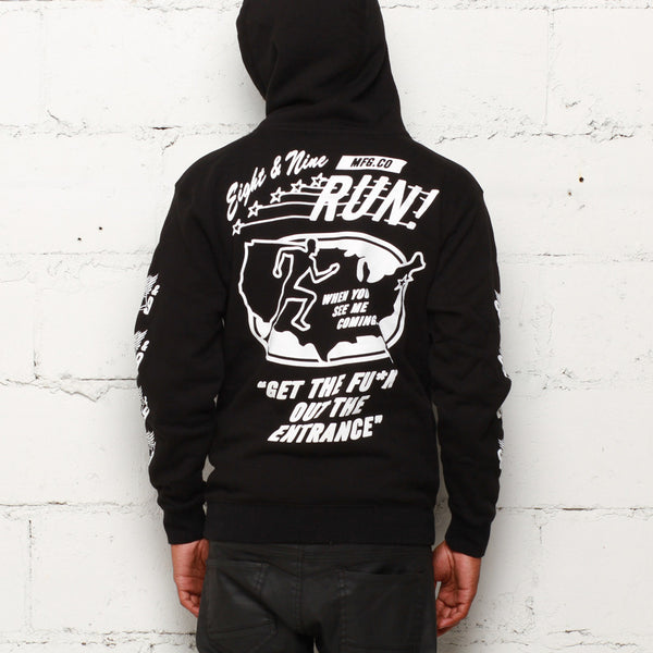 Run Hooded Sweatshirt Black