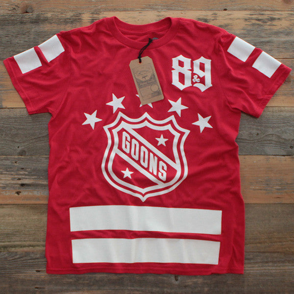 Goons Hockey Jersey Tee Red - 1