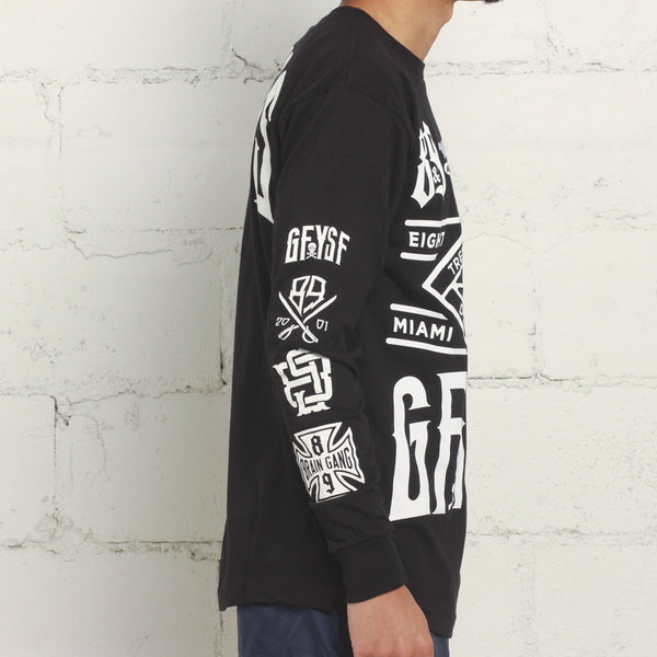 Louder Faster L/S Tee Black