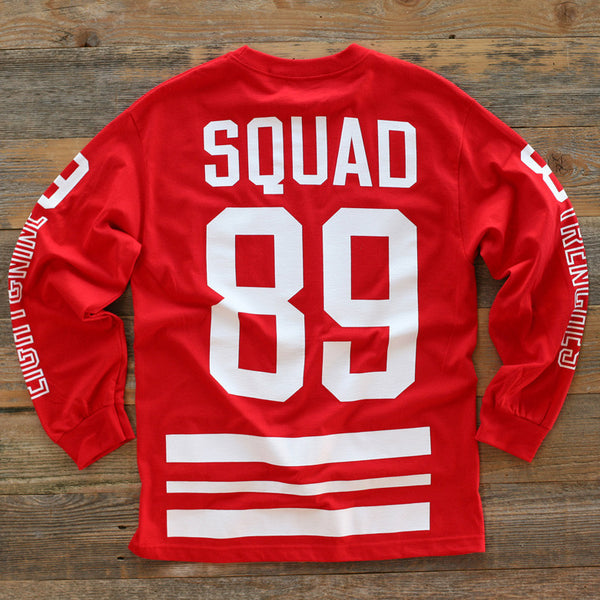 Trenches Hockey Jersey Tee L/S Red - 2