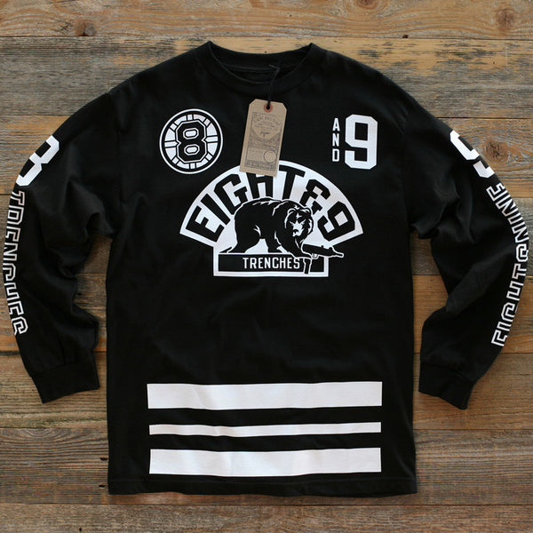 Trenches Hockey Jersey Tee L/S Black
