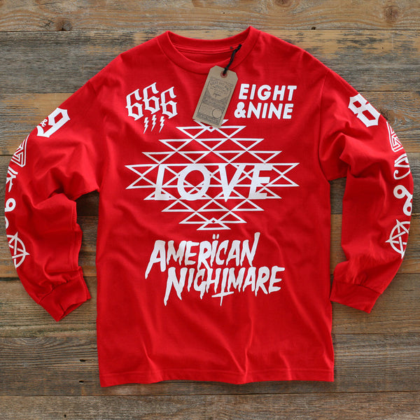 Love Jersey Tee L/S Red - 1