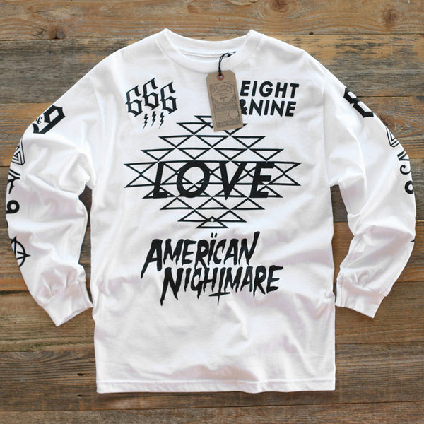 Love Jersey Tee L/S White - 1