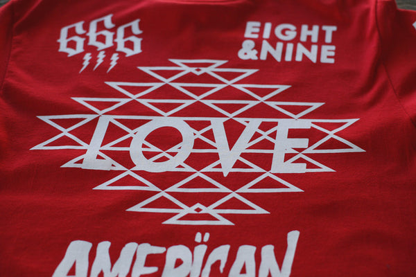 Love Jersey Tee L/S Red - 3