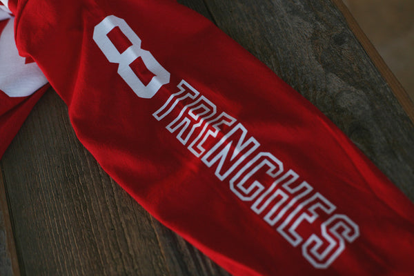 Trenches Hockey Jersey Tee L/S Red - 5