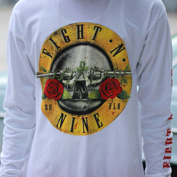 Guns N Trenches L/S Tee White