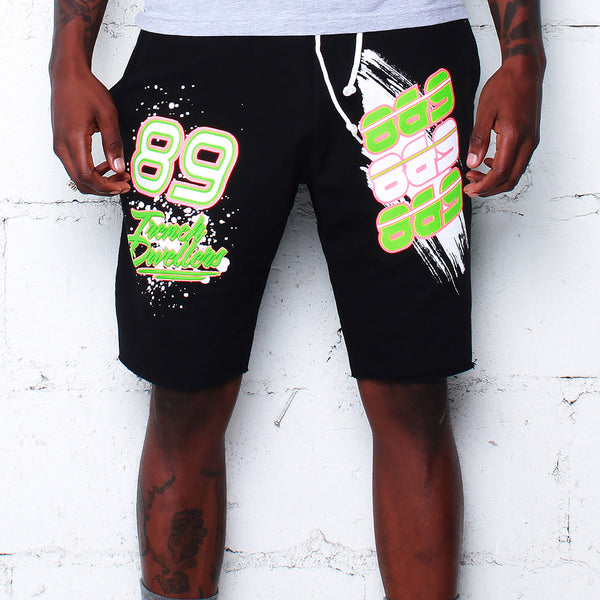 Team Finesse Terry Shorts Poison Green