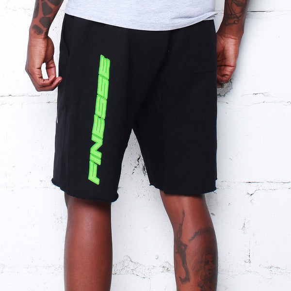 Team Finesse Terry Shorts Poison Green - 3