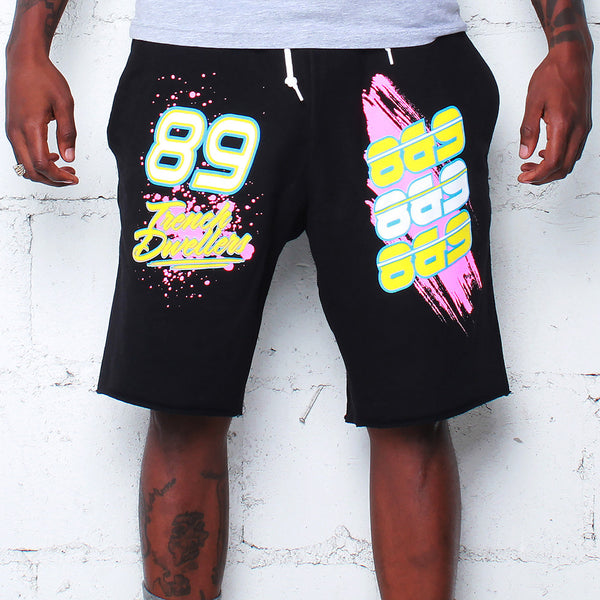 Team Finesse Terry Shorts Black - 1