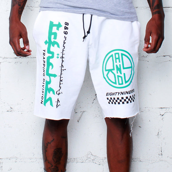 Trap Division French Terry Shorts White