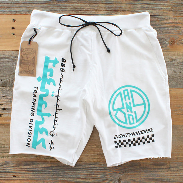 Trap Division French Terry Shorts White - 2