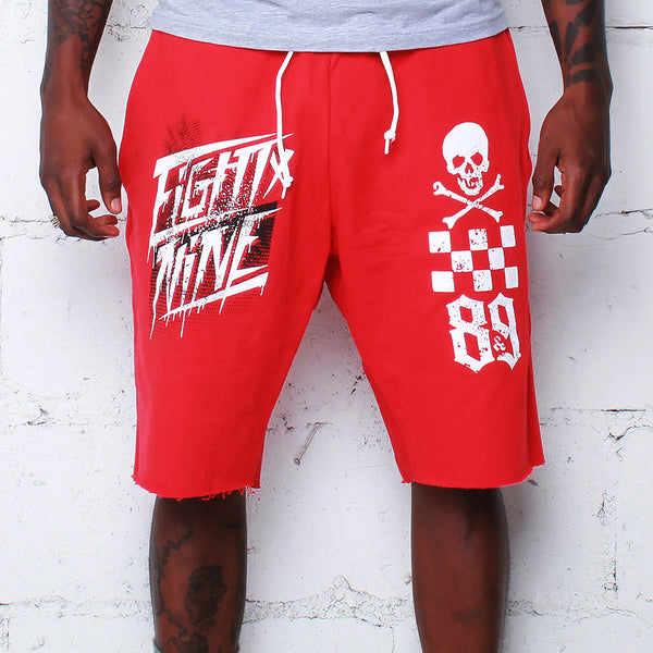 Race Team French Terry Shorts Red - 1