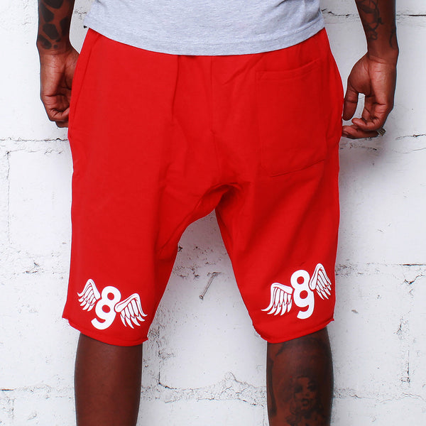 Kustom Life French Terry Shorts Red - 2