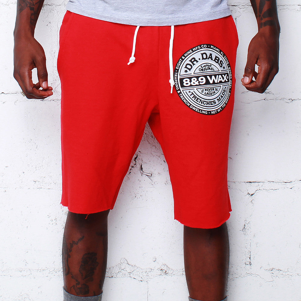 Dr. Dabs Terry Shorts Red - 1