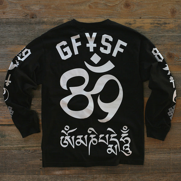 Hate Jersey L/S Tee Black - 2