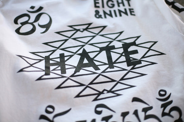 Hate Jersey L/S Tee White - 4