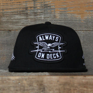 On Deck Snapback Baseball Hat Black