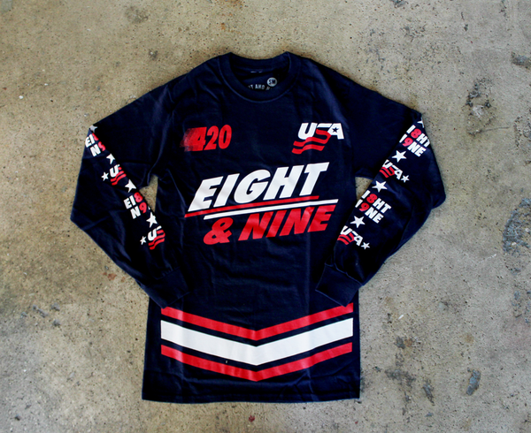 Team USA Jersey Tee Navy L/S - 6