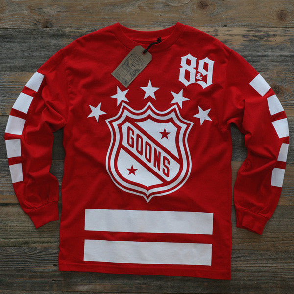 Goons Hockey Jersey Tee Red L/S - 1